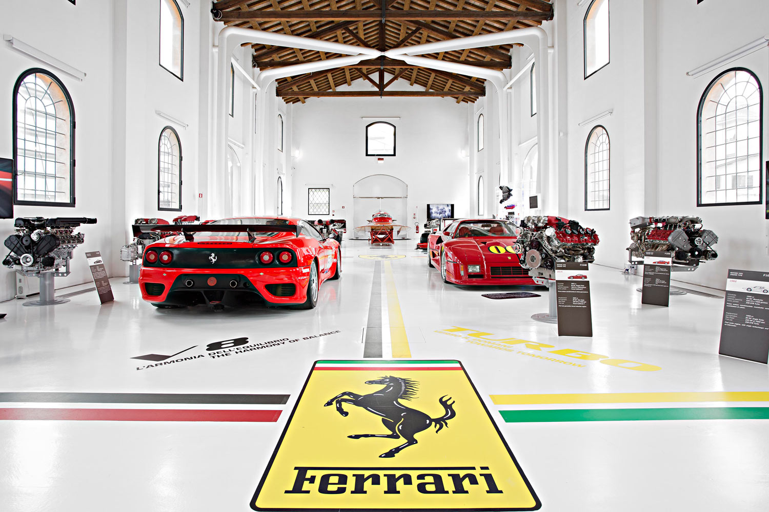 a pairing of enzo ferrari and luciano pavarotti at the ferrari