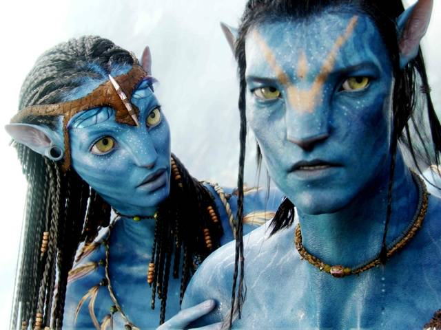 Jake Sully and Na'vi woman, Neytir