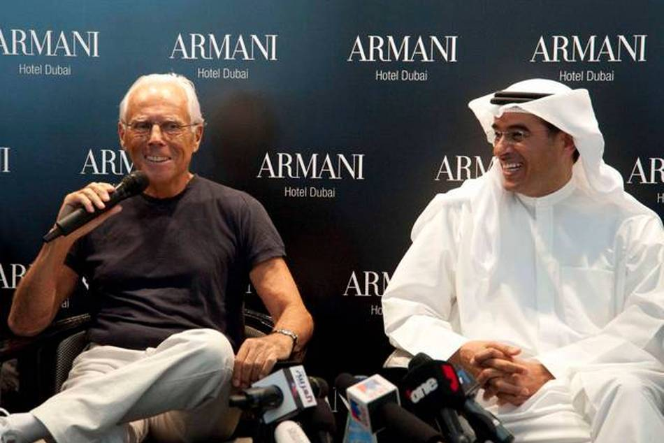 Opened by fashion maestro Giorgio Armani and Mohamed Alabbar, Chairman of Emaar Properties PJSC