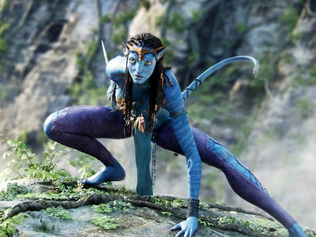 Neytiri, whose beauty is matched by her ferocity in battle