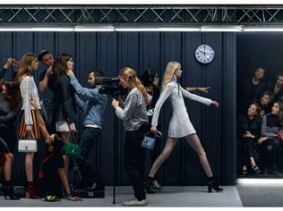 The exhibit in Los Angeles is a modern and unexpected interpretation of a fashion show that contextualises the label's Spring/Summer 2015 collection | Photos by Jean-Paul Goude that appeared in Elle UK are also featured