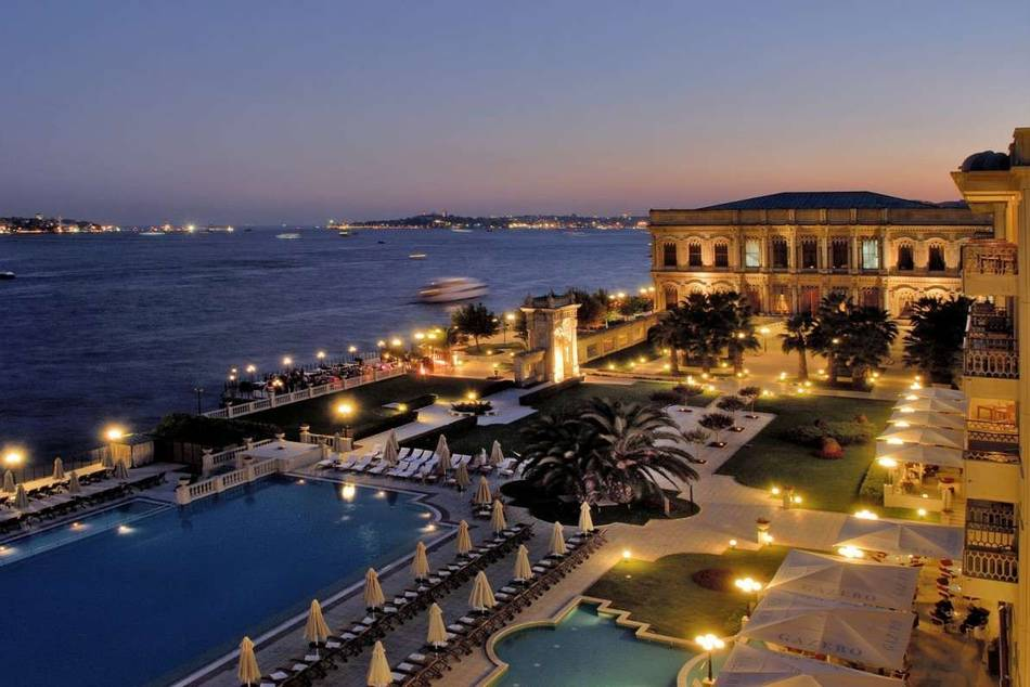 The Ciragan Palace Kempinski is consistently voted best hotel in Istanbul