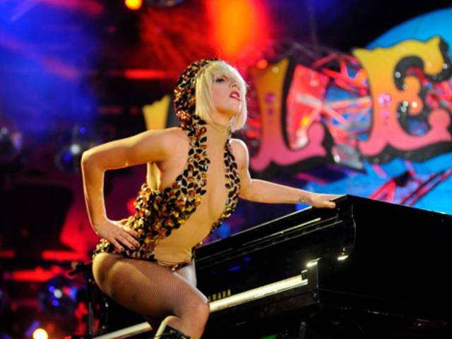 Lady GaGa performing for MTV