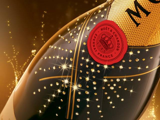 Moët Crystallised, the finest champagne, Moët Impérial with the most glamorous Swarovski crystals